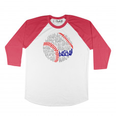 Baseball Words Raglan