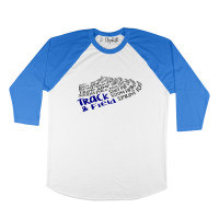 Track and Field Words Raglan