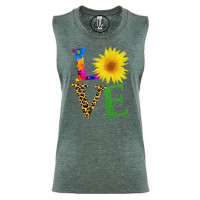 Spring Floral Love Festival Muscle Tank