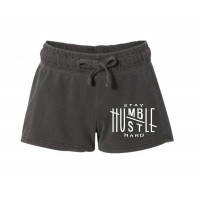Stay Humble Hustle Hard Printed French Terry Shorts
