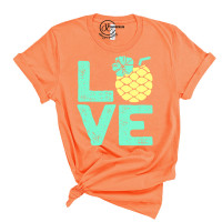 Summer Pineapple Crew Neck T-Shirt
