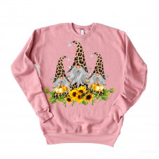 Sunflower Gnome Unisex Drop Sleeve Sweatshirt