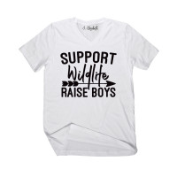 Support Wildlife Raise Boys V-Neck