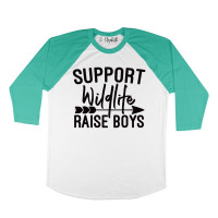 Support Wildlife Raise Boys Raglan