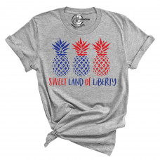 Sweet Land of Liberty Crew Neck T-Shirt
