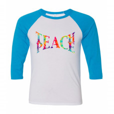 Teach Peace Raglan