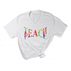 Teach Peace V-Neck