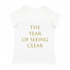 The Year Of Seeing Clear Curvy Collection V-Neck