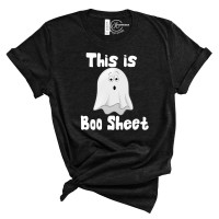 This Is Boo Sheet Crew Neck T-Shirt