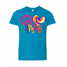 Tie Dye Peace Love Summer Youth T-Shirt