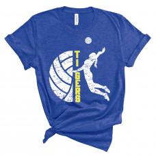 Tigers Volleyball Crew New T-Shirt