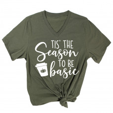 Tis' The Season to be Basic V-Neck T-Shirt