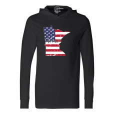 US Flag States of America Lightweight Hoodie (ALL STATES!)
