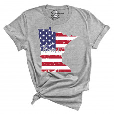 US Flag States of America T-Shirt (ALL STATES!)