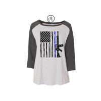 US Navy and Air Force Flag Curvy Collection Raglan