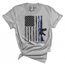 US Navy and Air Force Flag Crew Neck T-Shirt
