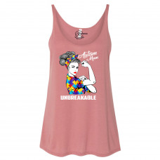 Unbreakable Autism Mom Slouchy Tank