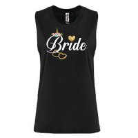 Unicorn Bride Festival Muscle Tank
