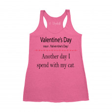 Valentine's Day With My Cat Tank Top