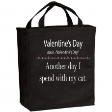 Valentine's Day With My Cat Tote