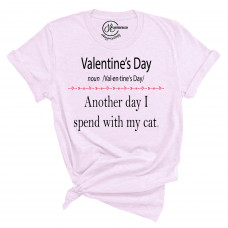 Valentine's Day With My Cat T-Shirt