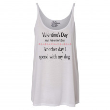 Valentine's Day With My Dog Slouchy Tank