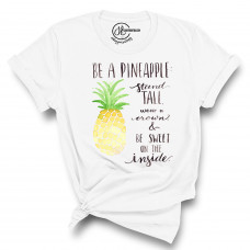 Watercolor Be a Pineapple Crew Neck T-Shirt