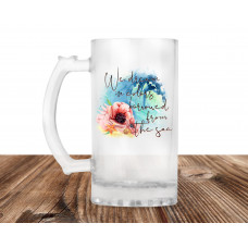 We Dream In Colors Borrowed From the Sea 16oz Frosted Glass Beer Mug