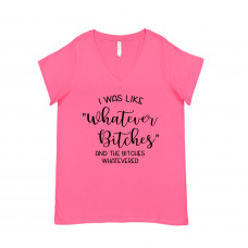 Whatever Bitches Curvy Collection V-Neck