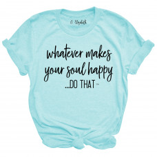 ~SALE~ Whatever Makes Your Soul Happy- Athletic Heather/2X