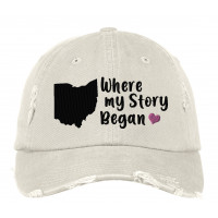 Where My Story Began Distressed Embroidered Hat (ALL STATES)