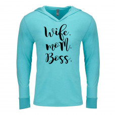 Wife Mom Boss Lightweight Hoodie
