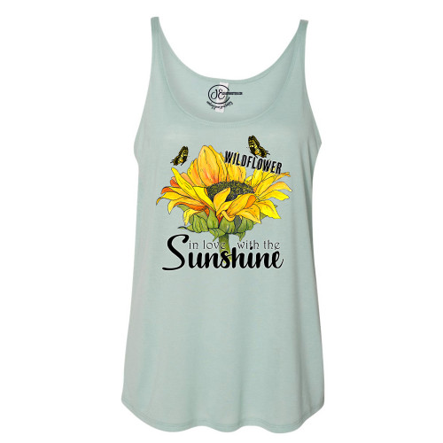 Wildflower in Love With Sunshine Slouchy Tank