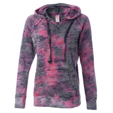 Women's Courtney Burnout V-Notch Hooded Sweatshirt