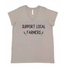 Support Local Farmers Curvy Collection V-Neck