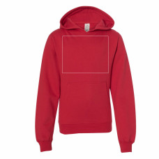 Red Youth Midweight Hooded Sweatshirt BYOT