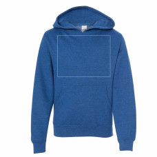 Royal Heather Youth Midweight Hooded Sweatshirt BYOT