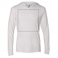Heather White Lightweight Hoodie BYOT