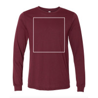 Heather Cardinal Long Sleeve BYOT