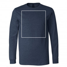 Heather Navy Long Sleeve BYOT