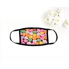 Candy Hearts Face Mask