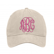 Customized Cursive Monogram Embroidered Hat