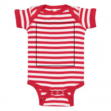 Red White Stripe Onesie BYOT