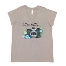 Story Teller Photographer Curvy Collection V-Neck