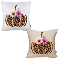 Leopard Pumpkin Pillow Cover