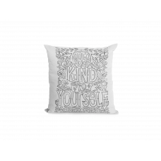Be Kind To Yourself Pillow Cover - Color Your SOUL