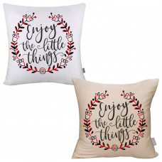 Buffalo Plaid Enjoy The Little Things Pillow Cover