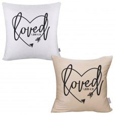 John 419 Loved Pillow Cover