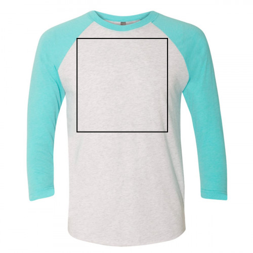 Tahiti Blue / Heather White Color Raglan BYOT