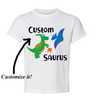 Custom Name Saurus Toddler T-Shirt
